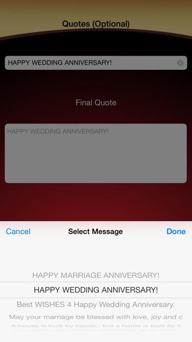 Wedding Anniversary Greetings Maker screenshot four