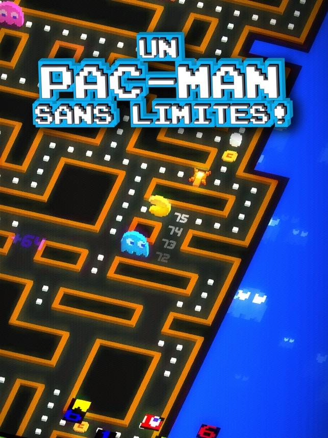 PAC-MAN 256 Labyrinthe infini style arcade Capture d'écran