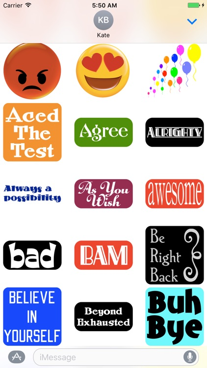 Sticker Phrase - stickers for iMessages screenshot-3