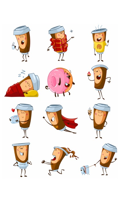 Hi Coffee! iMessage stickers for coffee lovers