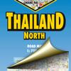 Thailand Nord. Straßenkarte.