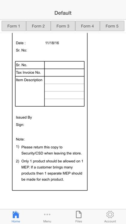 Entry Pass Receipt