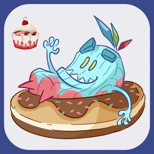 Cup Cake Monster Emoji Sticker