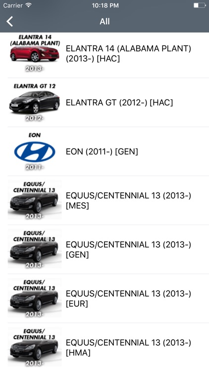 Hyundai Car Parts - ETK Parts Diagrams