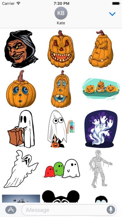 Halloween Stickers Sheet