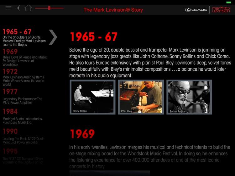 Mark Levinson for Lexus screenshot-4