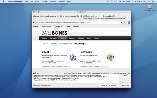 DownloadManager on the Mac App Store