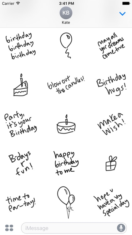 Happy Birthday sticker pack, stickers for iMessage