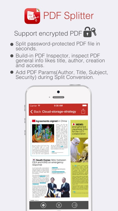 c api to split pdf into multiple files