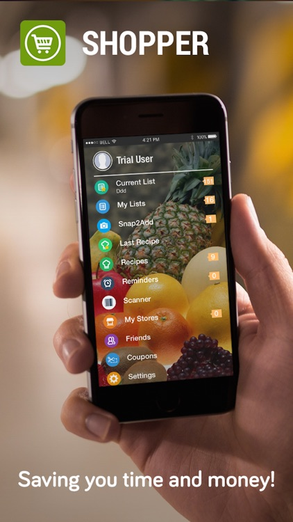 Shopper - Grocery List, Shopping List and Recipes app image