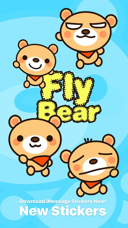 Fly Bear Pro - Cute Stickers by NICE Sticker screenshot-0