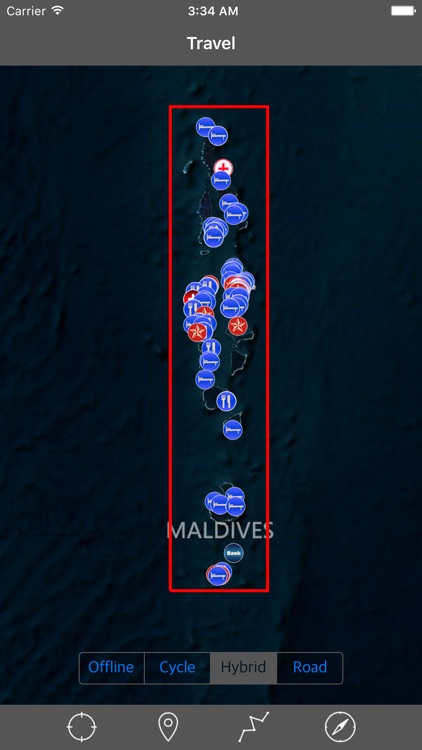 MALDIVES – GPS Travel Map Offline Navigator screenshot-0