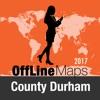 County Durham Оффлайн Карта и