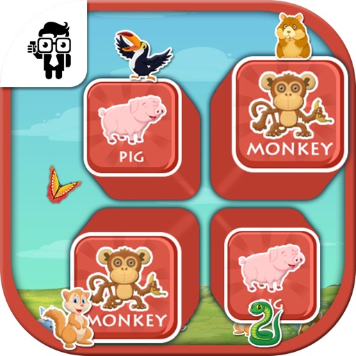 Match Pet Animal Cards Kids Game