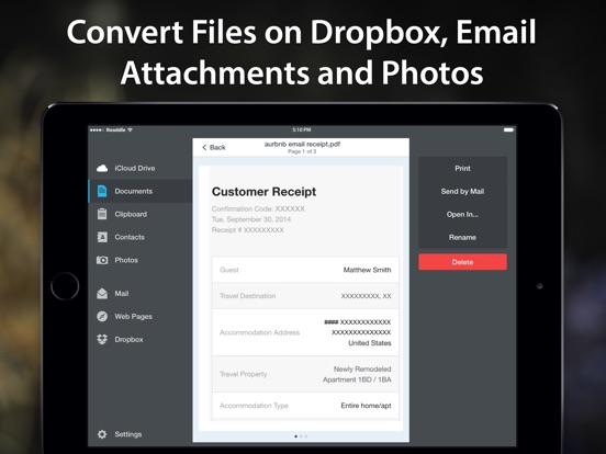 Screenshot #3 for PDF Converter by Readdle