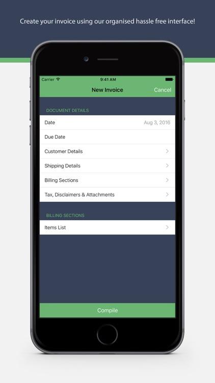Invoice Lite by HarveyWiz: PDF Invoicing & Receipt screenshot-3