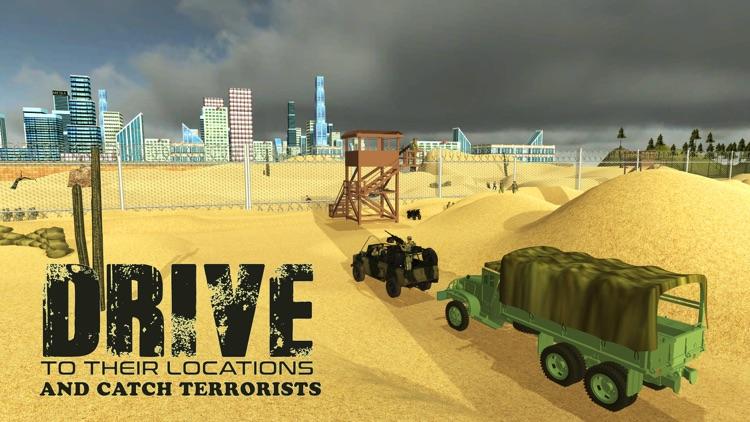 Army Truck Border Patrol – Drive military vehicle to arrest criminals screenshot-3