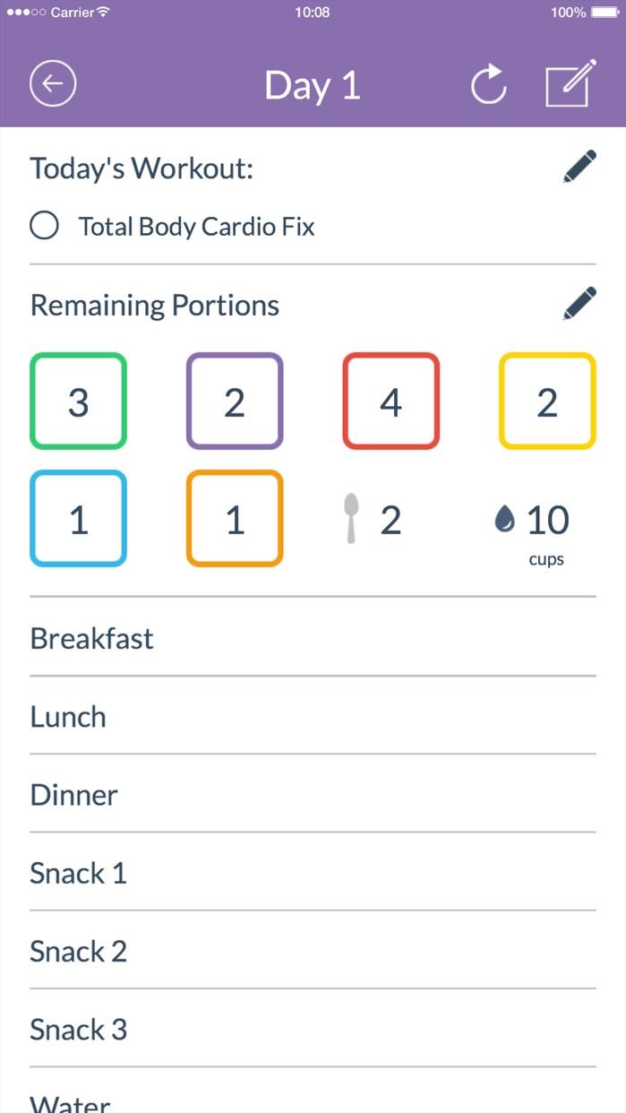 21 Day Fix® Tracker – Official Screenshot