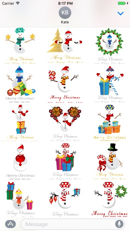 Christmas & NewYear 100 Stickers for iMessage screenshot-3
