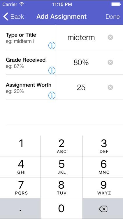 Grade Calculator by MES screenshot-3