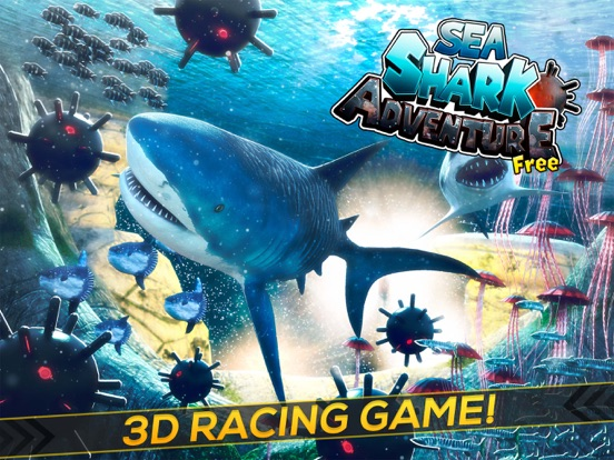 Sea Shark Adventure: Shark Simulator Game For Kids-ipad-0