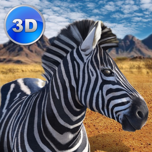 Zebra Simulator 3D Full - African Horse Survival icon