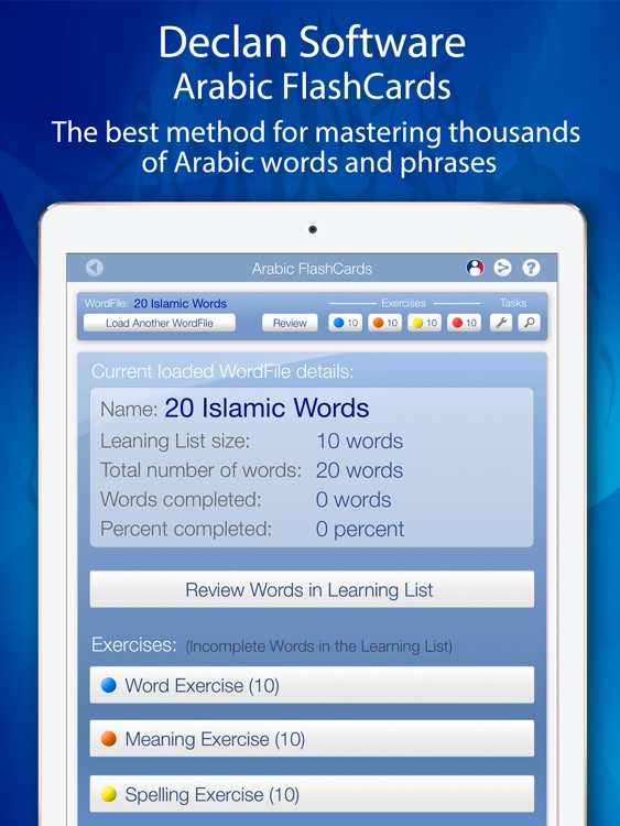 Learn Arabic FlashCards for iPad by Declan Software