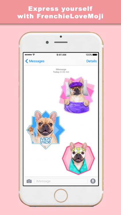FrenchieLoveMoji Stickers & Keyboard for Bulldogs screenshot-3