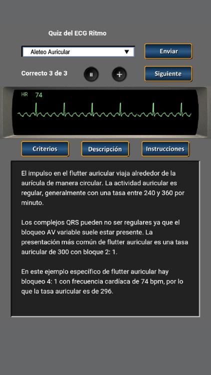 Quiz del ECG Ritmo screenshot-2