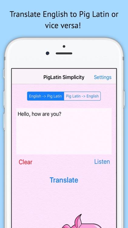 PigLatin Simplicity