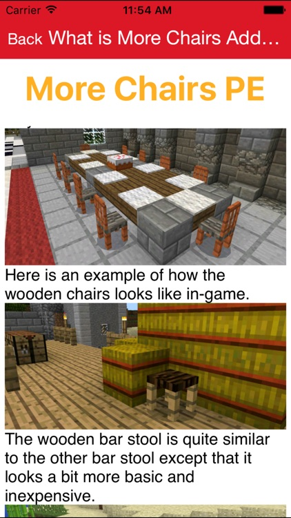 Furniture Addon For Minecraft PE One Touch Install screenshot-0