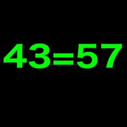 43=57 Equations Solve