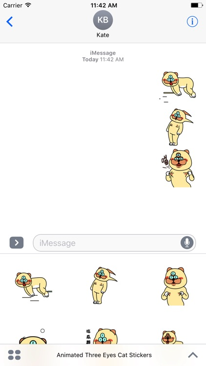 Animated Three Eyes Cat Stickers For iMessage