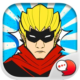 Heroes Pop Art Stickers for iMessage