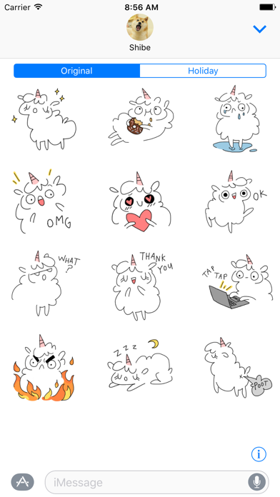 Fluffcorn Stickers