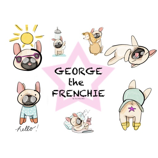 George the Frenchie Stickers