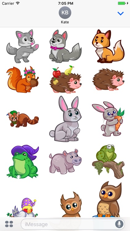 Cute Baby Animal Stickers for iMessage screenshot-3