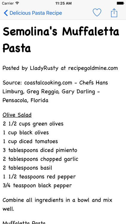 Delicious Pasta Recipe screenshot-4