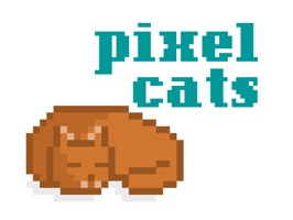 Animated pixel cat stickers from Diesel Sweeties to mew up your Messages