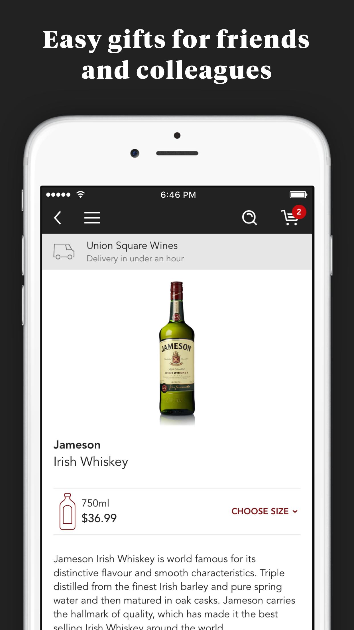 Minibar Delivery Screenshot