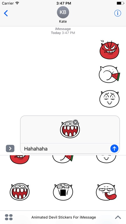 Animated Devil Emoji Stickers For iMessage