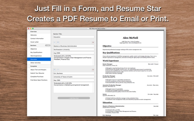 u200eresume star  pro cv designer on the mac app store