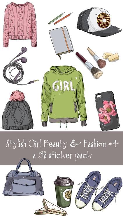 Stylish Girl Winter Fashion Sticker Pack