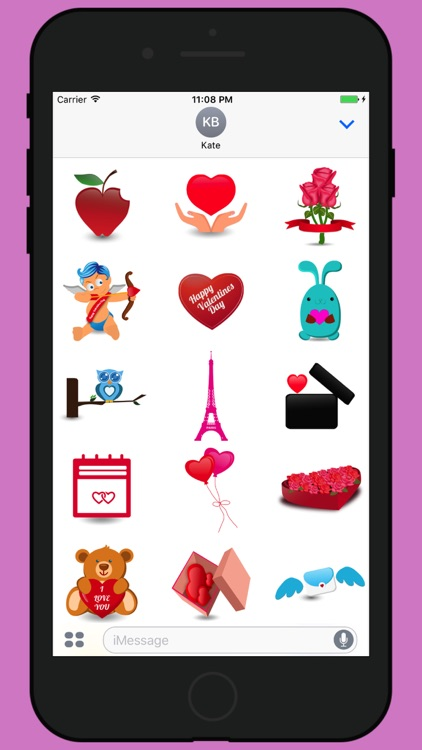 Valentine week love stickers 2017