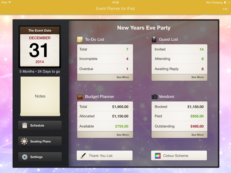 Event Planner for iPad