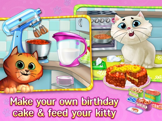 Kitty Cat Birthday Surprise: Care, Dress Up & Play для iPad