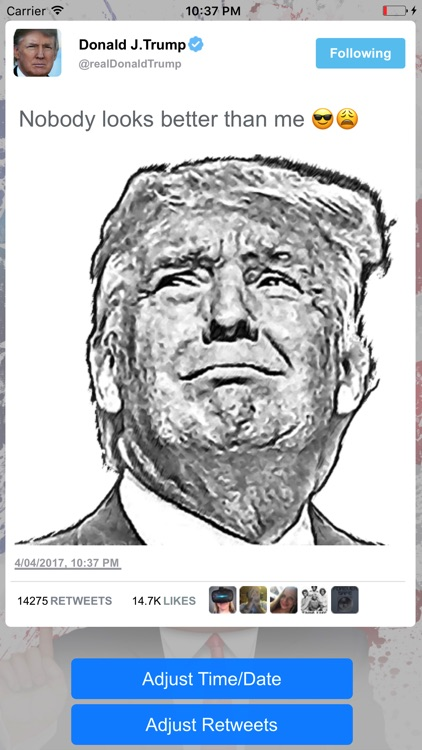 Fake Trump Tweets Golden Version screenshot-4