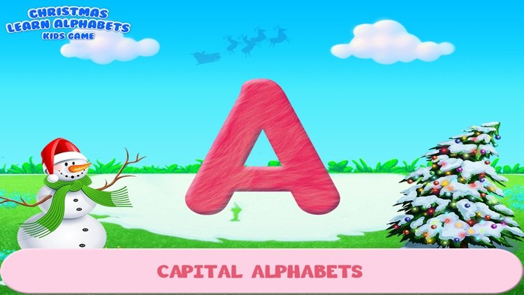 Christmas Learn Alphabets Kids Game