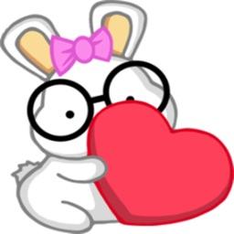 Nerdy Bunny stickers by Marko Njegovan