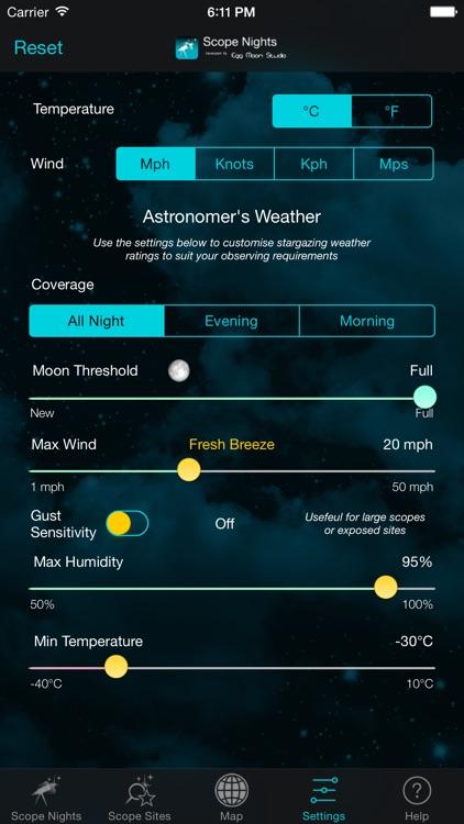 Scope Nights: Astronomy Weather & Dark Sky Map screenshot-4